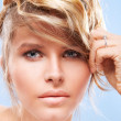 Shine blond hair woman — Stock Photo