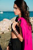 Profile fashion shot — Stock Photo