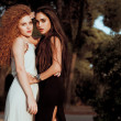 Two fashion woman — Foto Stock