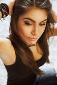 Exotic Brunette beauty — Stock Photo
