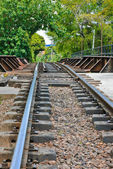 Railway in low angle view — Stock Photo