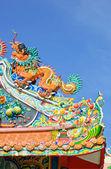 Orange dragon — Stock Photo