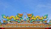 Kolorowy chiński smok — Zdjęcie stockowe