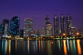Bangkok stadt nachtaufnahme — Stockfoto