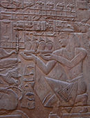 Egyptian relief — 图库照片
