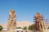 Kolosů memnon v luxor, egypt — Stock fotografie