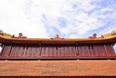 Décorer de toit de temple vietnamien — Photo