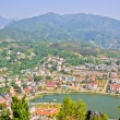 Sapa lake and town — Stock Photo