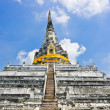 Stock Photo: Thai white pagoda