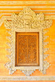 Balinese carving window — Stock Photo
