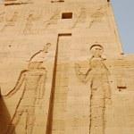 Carving Pharaoh and Isis goddess — Stock Photo
