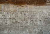 Relief carved wall in Great temple of Karnak, Egypt — Stock Photo