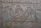 Egyptian painted relief — ストック写真