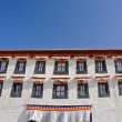 Row of windows in Tibetan style - Stock Photo