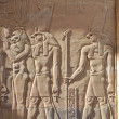 Egyptian engraved gods image — Stock Photo