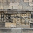 Bas-relief sculptures on wall - Stok fotoğraf