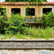 Old abandoned railroad car — Stock Photo