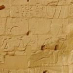 エジプト レリーフ彫刻を施した壁 — ストック写真