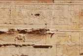 Egyptian engraved on wall — Stockfoto