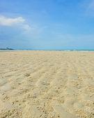 海滩沙波纹图案 — 图库照片