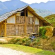图库照片: Hill tribe wooden house