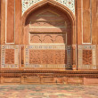 Wall decorate on red sandstone building — Photo