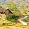 Hill tribe wooden house — Stockfoto #13862275