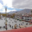 Stock Photo: Barkhor Square view from roof of Jokhang temple
