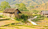 Hill tribe wooden house — Stock Photo