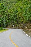 曲がった道をアスファルト — ストック写真