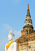 Starověké socha buddhy — Stock fotografie