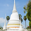 White Thai pagoda - Foto Stock