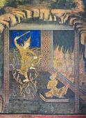 Native Thai mural — Stock Photo
