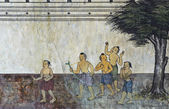Nativa murale tailandese — Foto Stock