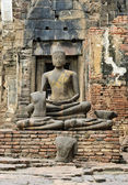 Ancient Buddha Ruins Statue — Foto Stock
