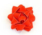 孤立的红色蝴蝶结 — 图库照片