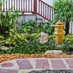 Natural stone walkway decorative — Stock Photo #16017511