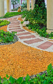 Natural stone walkway decorative — Stock Photo