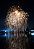 Feux d'artifice jaune — Photo