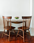 Small dining table — Stock Photo