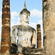 Ancient stone Buddha — Stock Photo