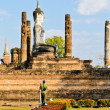 Big Buddhstatue in Wat Mahathat — Stock Photo #18752125