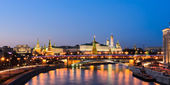 Moscow Kremlin in summer night, Russia — Stock Photo