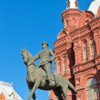 Equestrian statue of Marshal Zhukov — Stock Photo