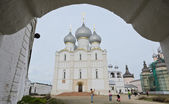 Assumption cathedral in Rostov Kremlin, Russia — Stock Photo