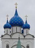 Russian Orthodox Blue domes — Stock Photo