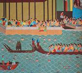 Tajski malarstwo loi krathong festival — Zdjęcie stockowe