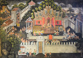 Native Thai mural — Foto Stock