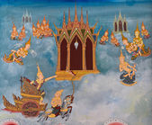 Thajské nástěnná malba — Stock fotografie