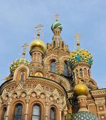 Top church of onion domes — Stock Photo